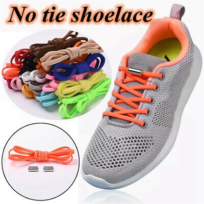 finest selection running shoes another chance NEW ELASTIC NO Tie Shoelaces Sneakers Quick Lazy Laces Kids ...