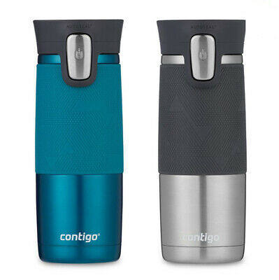 Contigo Autoseal Spill-proof Thermal Travel Mugs, 2 Pack in Blue & Grey | NEW