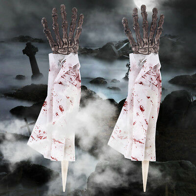 HALLOWEEN Prop Realistic Hand Terror Bloody Fake Body Parts Severed Arm Hand US