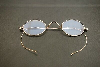 ANTIQUE VICTORIAN 9ct. GOLD OVAL SPECTACLES CASED