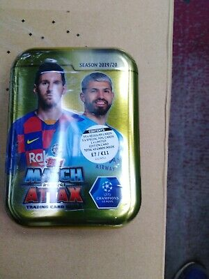 Topps Match Attax Season 2019/20 Trading Card Mini Tin Football Trading Cards