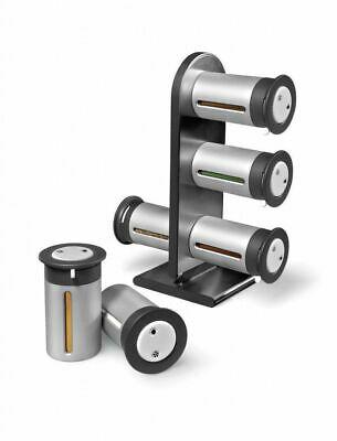 Magnetic Spice Rack Stand set Storage Container-6 Canisters