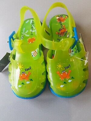 Next Baby Boys Girls Green Jelly Sandals infant Size 5. BNWT