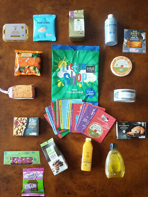 Marks and Spencer LITTLE SHOP M&S mini collectabes includes bag, card & leaflet!
