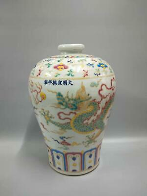 Ming Dynasty Chinese Porcelain Vivid Dragons Vases Hand-painting Marks XuanDe