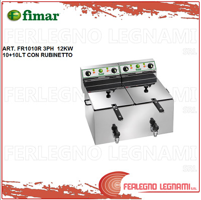 Deep Fryer Electric 10+10LT 12KW 3PH with Tap Fimar FR1010R