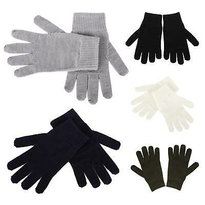 Unisex Merino Wool Thermal Liner Cashmere Gloves Winter Warm Extra Winter Warmth
