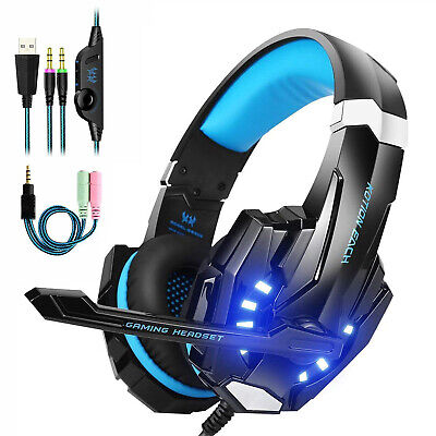 3.5mm Gaming Headset MIC LED Headphones for PC SW Laptop PS4 Pro Xbox One TO
