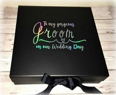 Wedding Keepsake Box Personalised /'My Gorgeous Groom/' Wooden Gift Box L3C2