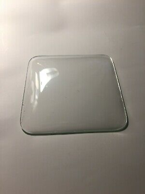 """Pre-Owned Small Clock Convex Clock Glass, 3.93"""" Square,Free Shipping!"""