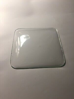"Pre-Owned Small Clock Convex Clock Glass, 3.24"" Square,Free Shipping!"
