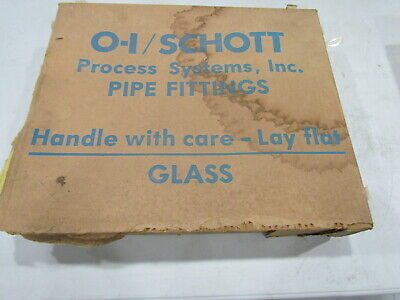 "O-I/Schott Process Systems 6710-1515 -1530 Glass Swivel Drum P- Trap 1-1/2""x3"""
