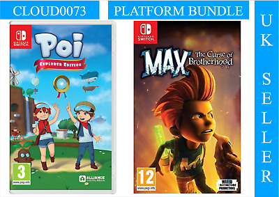 Poi Explorer Edition + Max The Curse of Brotherhood BDL (Nintendo Switch) UK NEW