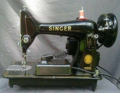 Vintage Singer 99K Portable Sewing Machine Heavy Duty All Metal Leather 0.8amp