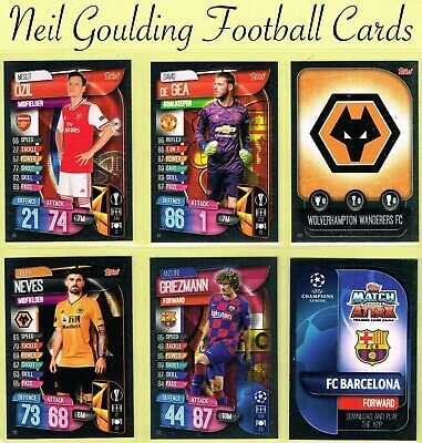 Champions League MATCH ATTAX 2019/2020 ☆ Football Cards ☆ #73 to #142 [UK]