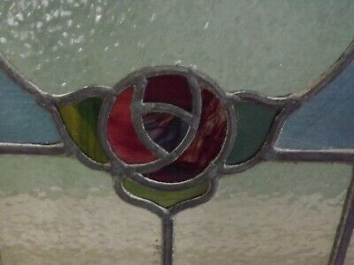 Leaded Stained Glass Window Panel Mackintosh Rose Local Collection Ne27