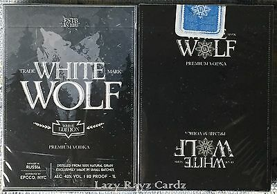 1 Deck Prohibition White Wolf Vodka Playing Cards~Ellusionist~Free Shipping