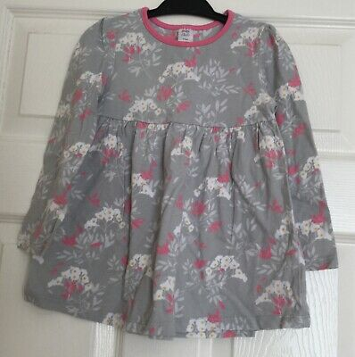 Little girls dress 2-3 years used little good condition Grey with pink flowers
