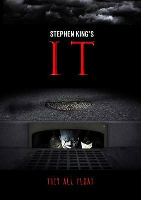 IT 2017 MOVIE POSTER Pennywise Stephen King Photo Print Wall A3 A4