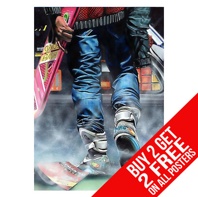 Back To The Future Delorean Ee1 Poster A4 A3 Size Print - Buy 2 Get Any 2 Free