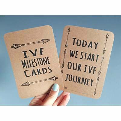 IVF Milestone Cards Conception Gift Photo prop brown card arrow Journey