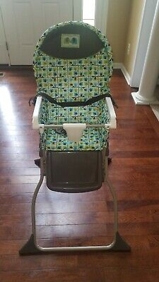 Cosco Simple Fold High Chair 3-Position Tray Elephant Squares LOCAL PICKUP ONLY