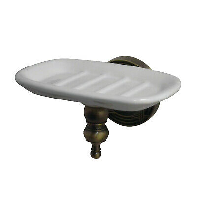 Kingston Brass BA9915AB Wall-Mount Soap Dish Holder,Antique Brass,Brass