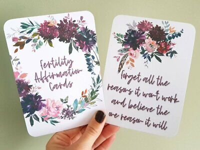 IVF Fertility Cards affirmation encourage positive empowerment wellbeing