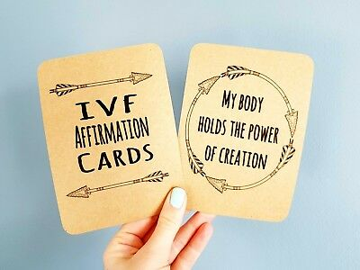IVF Affirmation Cards encouragement empower fertility positive thinking