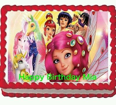 Mia and Me birthday party Edible Cake Topper 1/4 Icing Frosting sheet