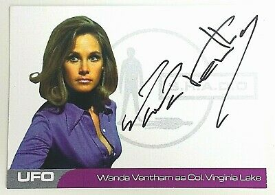 UFO Autograph Trading Card Wanda Ventham As Col Virginia Lake WV2