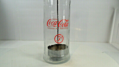 Glass & Metal Coca-Cola Straw Holder & Dispenser Retro (31)