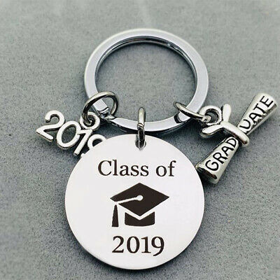 2019 Graduation Keychain Stainless Steel Key Ring College Graduation Beauty Gift