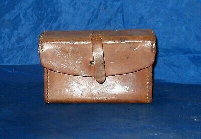 Ww2 Bdr Browning Automatic Rifle Leather Case Dated 4-42 Rare Modified Belt Clip