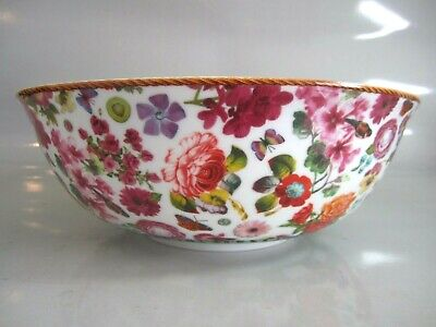 """Lenox Isabelle Large 10"""" Floral Serving Bowl by Melli Mello ~ NEW In Box"""