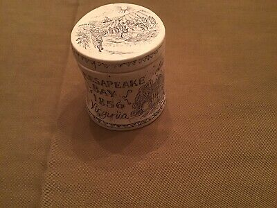 Antique Scrimshaw 1856  Reproduction .. Chesapeake Bay With Lid