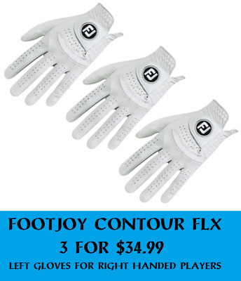 3 of FOOTJOY CONTOUR FLX LH GLOVES FOR RH PLAYERS