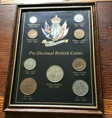The British Heritage Collection Framed And Mounted Pre-decimal British Coins