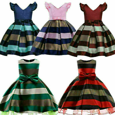 USA Newborn Baby Girls Floral Princess Tulle Tutu Dress Party Pageant Dresses