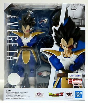 """In STOCK S.H. Figuarts Dragonball Z """"Normal Vegeta Scouter 2.0"""" Action Figure"""