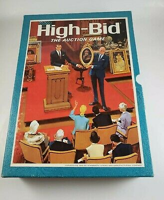 Vintage 1965 3M High Bid Auction Bookshelf Game Complete Good Condition
