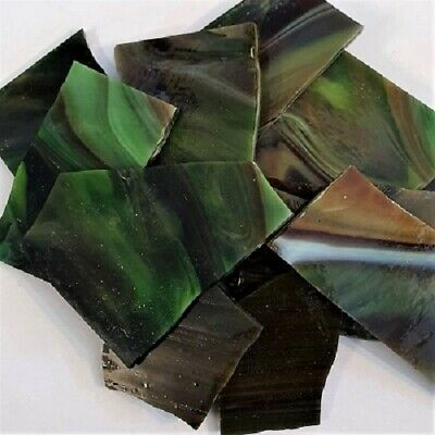 Stained Glass Pieces - 200grams - Choc Mint
