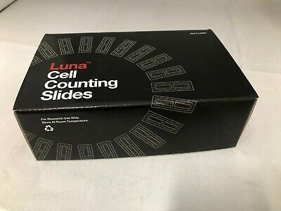 (50) Luna Cell Counting Slides, 50 x 100 Counts, Individual Wrap L12001 FREESHIP