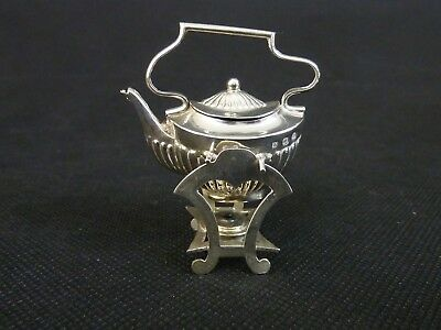 Miniature Sterling Silver Spirit Kettle On Stand C1905