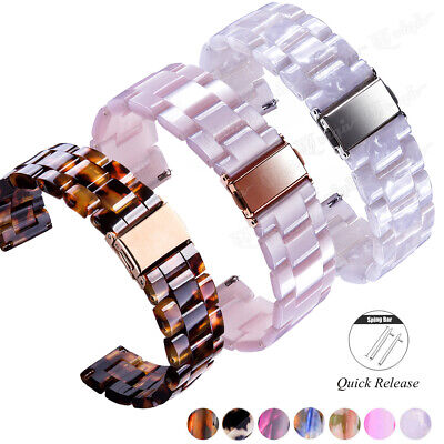 Resin Ceramics Bracelet Replacement Bands watch Band Strap + Quick Release Pins