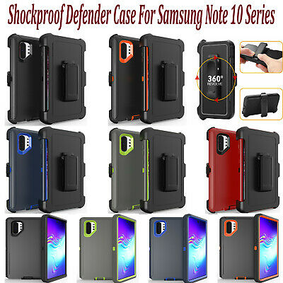 For Samsung Galaxy Note 10 / Plus Shockproof Defender Case w/Clip Fits Otterbox