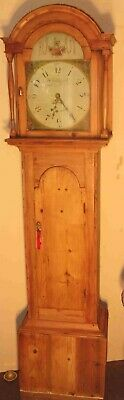 "Antique  Pine   "" Little  Haton  ""  Grandfather / Longcase Clock"