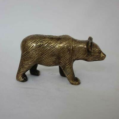 Bär*240g*Messing Bronze Figur*massiv*Tier*NEU*animal*brass*Skulptur*Deko*Statue