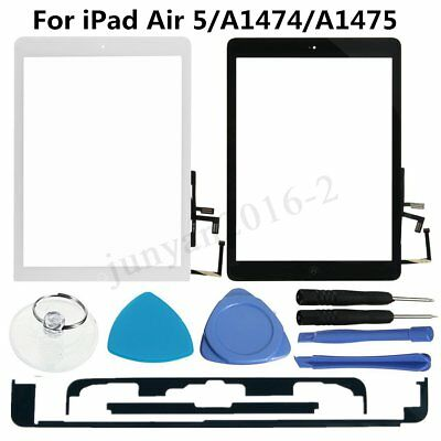 Touch Screen Digitizer Glass Lens For iPad Air 5/A1474/A1475 w/ Home Key &