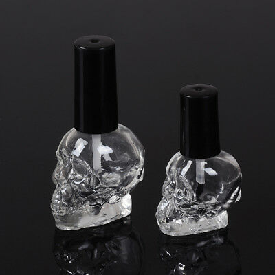 10/15ml Empty nail polish bottle clear glass with brush refillable steamed h!x